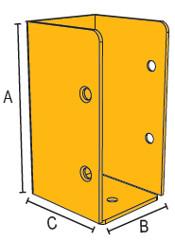B-0221 תושבת קיר 10 צהובה