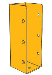 B-0241 תושבת קיר 15 צהובה