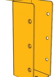 B-0251 תושבת קיר 15 + אוזן